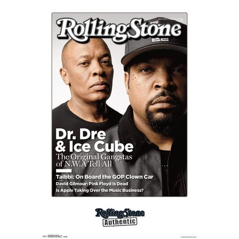 Dr Dre Dre & Cube Rolling Stone Cover Poster