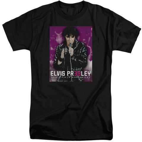 Elvis Presley Special Order 35 Leather Men's 18/1 Tall 100% Cotton Short-Sleeve T-Shirt