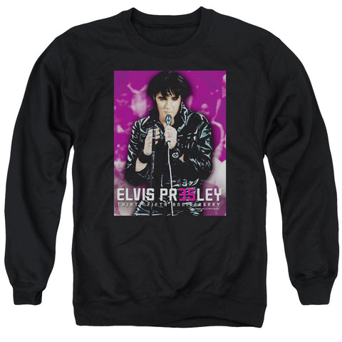 Elvis Presley Special Order 35 Leather Men's Crewneck 50% Cotton 50% Poly Long-Sleeve Sweatshirt