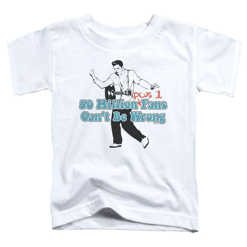 Elvis Presley Special Order 50 Million Fans Plus 1 Toddler 18/1 100% Cotton Short-Sleeve T-Shirt