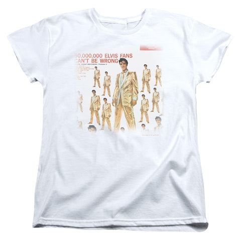 Elvis Presley Special Order 50 Million Fans Women's 18/1 100% Cotton Short-Sleeve T-Shirt