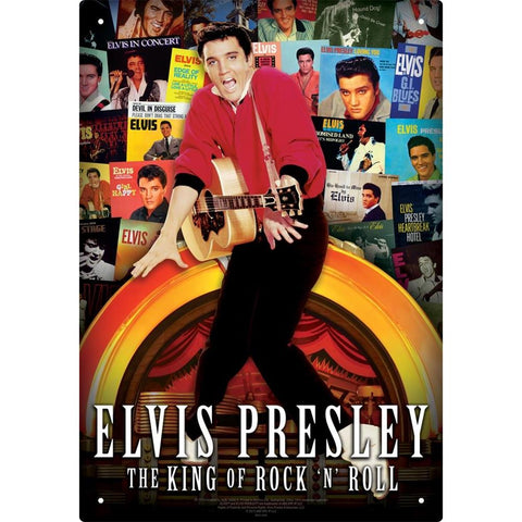 Elvis Presley Albums Collage Tin Sign