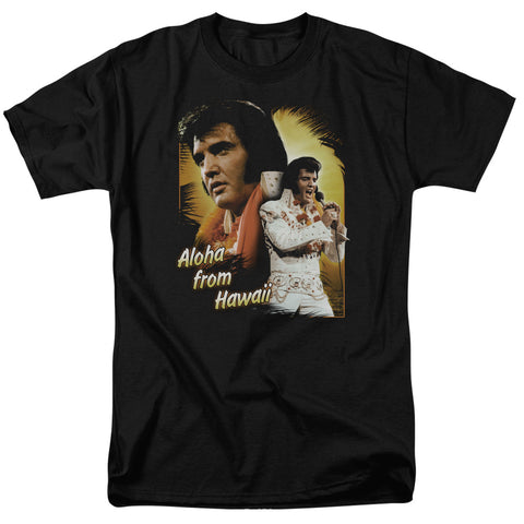 Elvis Presley Special Order Aloha Men's 18/1 100% Cotton Short-Sleeve T-Shirt