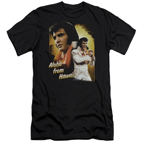 Elvis Presley Special Order Aloha Men's Premium Ultra-Soft 30/1 100% Cotton Slim Fit T-Shirt - Eco-Friendly - Made In The USA