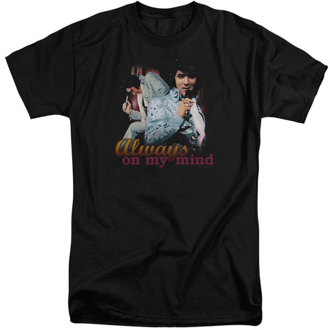 Elvis Presley Special Order Always On My Mind Men's 18/1 Tall 100% Cotton Short-Sleeve T-Shirt