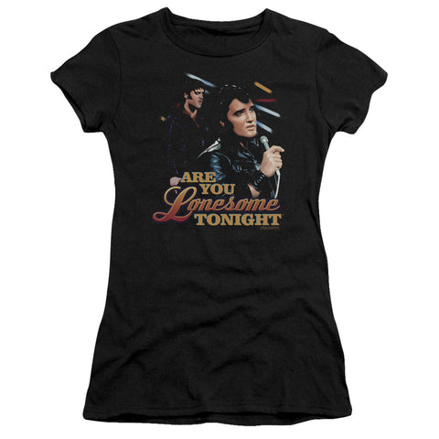 Elvis Presley Special Order Are You Lonesome Junior's 30/1 100% Cotton Cap-Sleeve Sheer T-Shirt