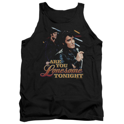 Elvis Presley Special Order Are You Lonesome Men's 18/1 100% Cotton Tank Top