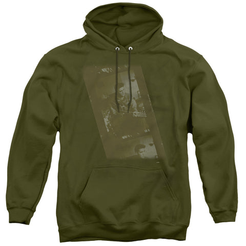 Elvis Presley Army Military Green Men's Pull-Over 75 25 Poly Hoodie