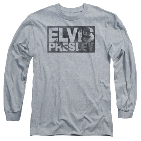 Elvis Presley Special Order Block Letters Men's 18/1 Long Sleeve 100% Cotton T-Shirt