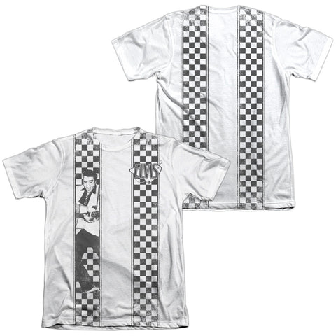 Elvis Presley Special Order Checkered Bowling Shirt Men's Regular Fit 65% Poly 35% Cotton Short-Sleeve T-Shirt