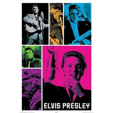 Elvis Presley Colors Wall Poster