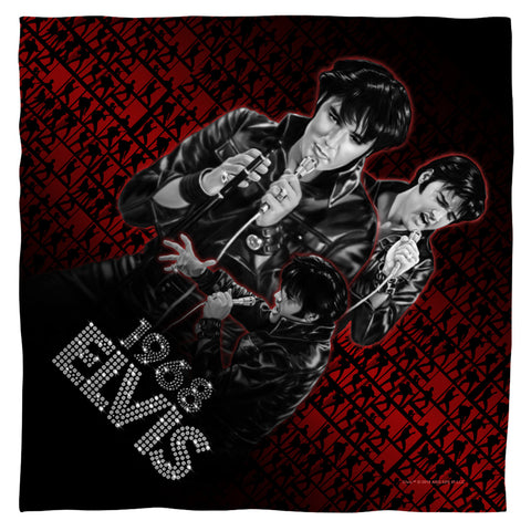 Elvis Presley Special Order Comback Performance 100% Polyester Bandana - 22 x 22 inches - 1-Sided
