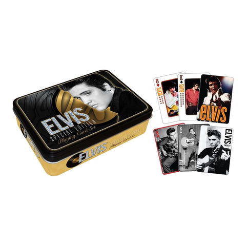 Elvis Presley Gold Playing Cards Tin