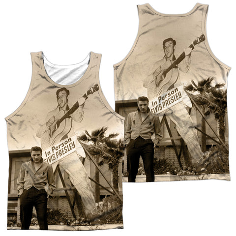 Elvis Presley Special Order Larger Than Life Men's Regular Fit 100% Polyester Tank Top