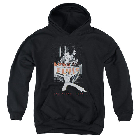Elvis Presley Special Order Las Vegas Youth 50% Cotton 50% Poly Pull-Over Hoodie