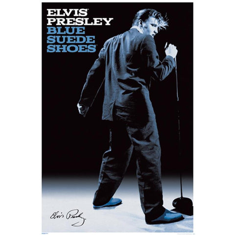Elvis Presley My Blue Suede Shoes Poster