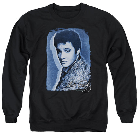 Elvis Presley Special Order Overlay Men's Crewneck 50% Cotton 50% Poly Long-Sleeve Sweatshirt