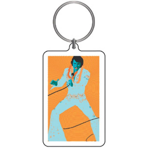Elvis Presley Psychedelic Elvis Lucite Keychain