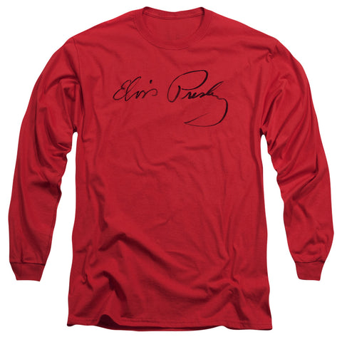 Elvis Presley Special Order Signature Sketch Men's 18/1 Long Sleeve 100% Cotton T-Shirt