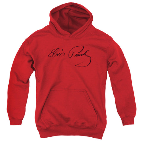 Elvis Presley Special Order Signature Sketch Youth 50% Cotton 50% Poly Pull-Over Hoodie