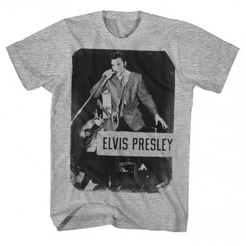 Elvis Presley Standing With Mic Men's T-Shirt
