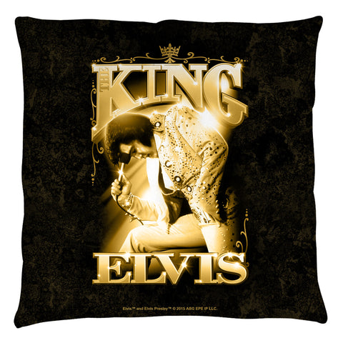 Elvis Presley Special Order The King Throw Pillow - Spun Polyester Light Weight Cotton - Canvas Look and Feel - Blown and Closed - 2-sided