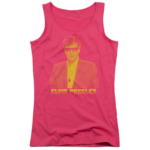 Elvis Presley Special Order Yellow Elvis Junior's 100% Cotton Tank Top
