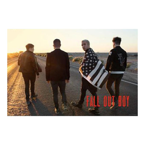 Fall Out Boy Group Flag Poster