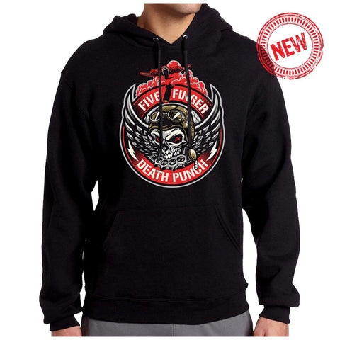 Five Finger Death Punch Bomber Patch Pullover Men's Black Hoodie