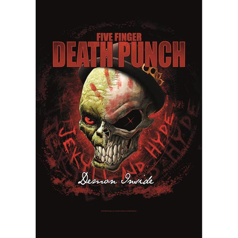 Five Finger Death Punch Demon Inside Fabric Poster