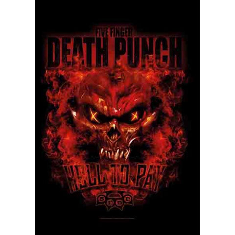 Five Finger Death Punch Hell to Pay Fabric Poster