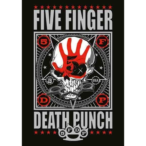 Five Finger Death Punch Punchagram Fabric Poster