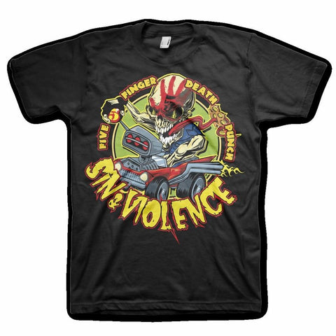 Five Finger Death Punch Sin and Violence Men's T-Shirt