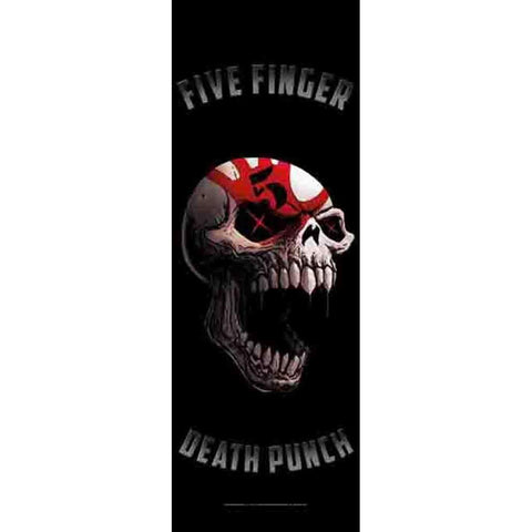 Five Finger Death Punch Speech Skull Fabric Door Poster