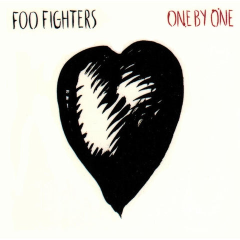 Foo Fighters Heart One By One White Sticker Small
