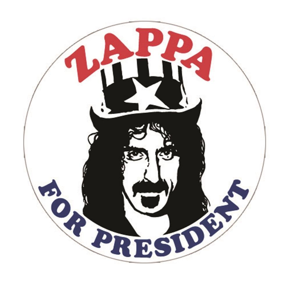 Frank Zappa For President Button Rockmerch