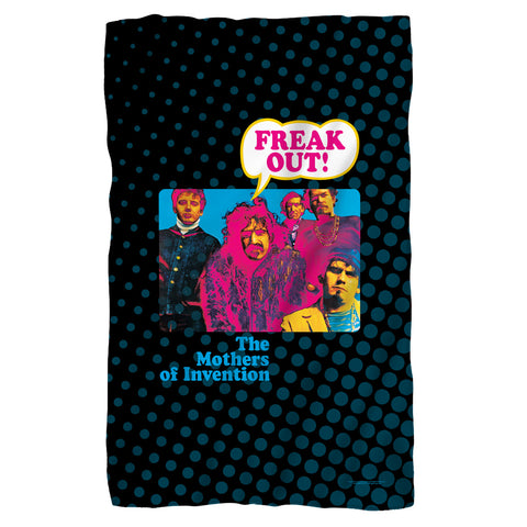 Frank Zappa Freak Out Polyester Fleece Blanket