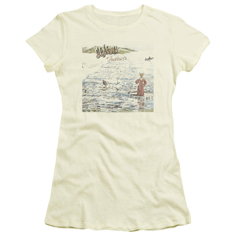 Genesis Special Order Foxtrot Junior's 30/1 100% Cotton Cap-Sleeve Sheer T-Shirt
