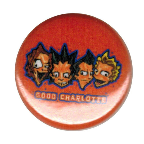Good Charlotte Cartoon Band Small Round Button