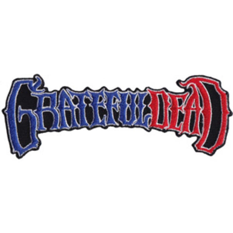 Grateful Dead 50th Anniversary Logo In Red White & Black Patch
