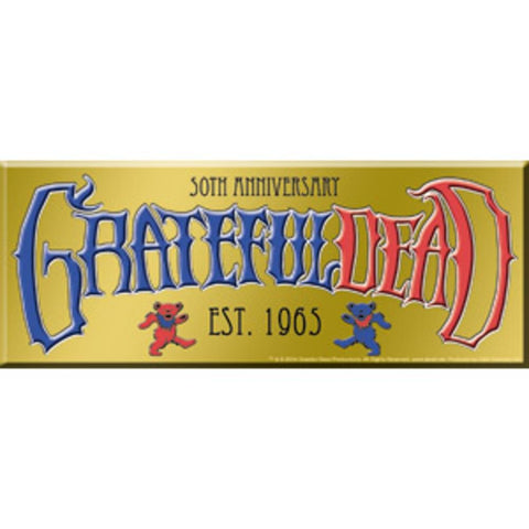 Grateful Dead 50th Anniversary Logo Sticker