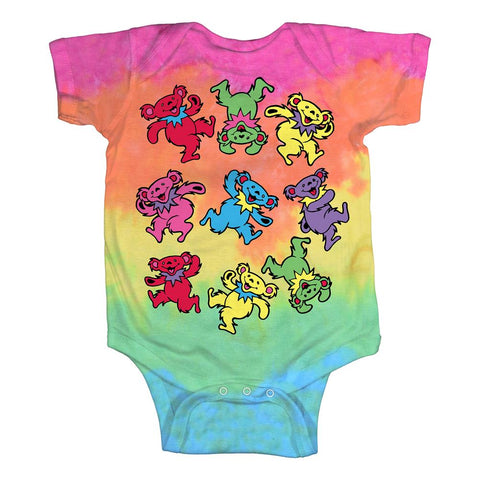 Grateful Dead-Baby Spiral Bears Baby One-Piece
