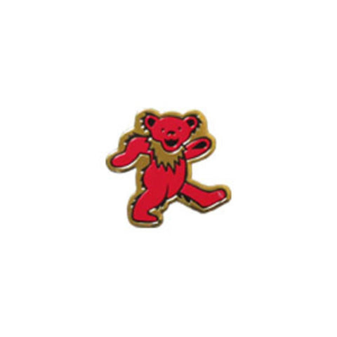 Grateful Dead Bear Gold Metal Sticker - Small