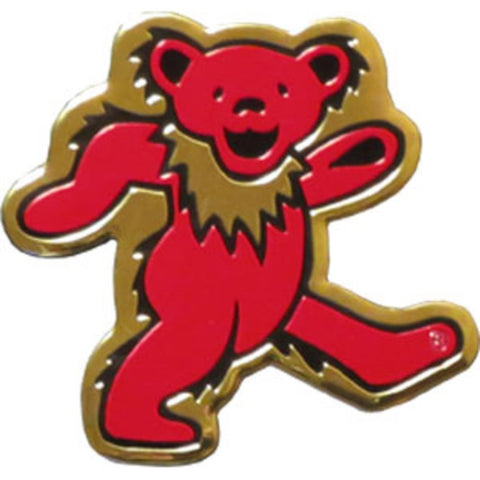 Grateful Dead Bear Gold Metal Sticker - Large