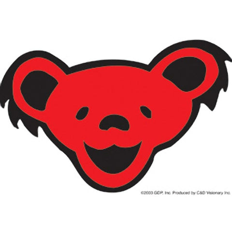 Grateful dead bear head sticker