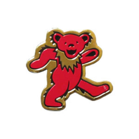 Grateful Dead Bear on Gold Metal Sticker