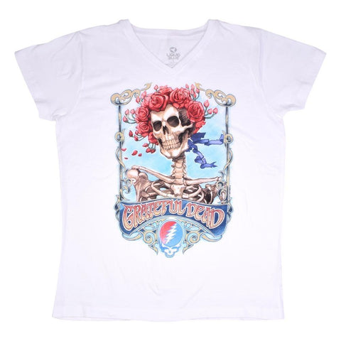 Grateful Dead Bertha Live Women's V-Neck T-Shirt