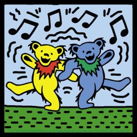 Grateful Dead Dancing Bears On Blue Sticker
