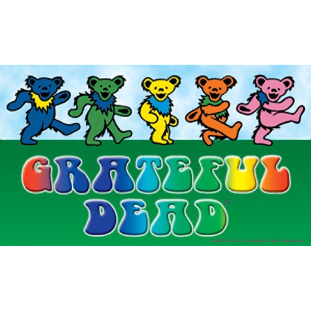 Grateful Dead Dancing Bears With Logo Sticker Rockmerch