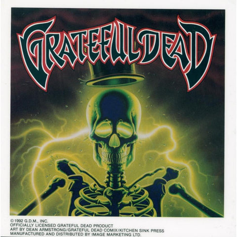 Grateful Dead Electric Skeleton Static Sticker Sticker